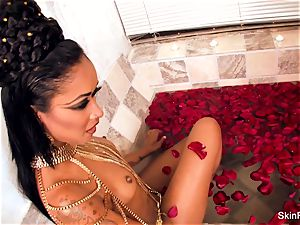 enticing vampy flesh gets a wicked meaty fuckpole in the bathtub