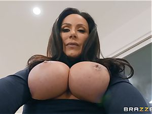 aged black-haired beauty Kendra fervor riding hard-on