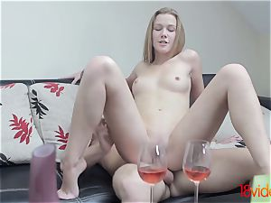 barely legal Videoz - Alexis Crystal - Morning coffee and intercourse