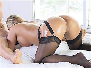 mummy adult movie star Phoenix Marie wedged deep in her yummy pussylips