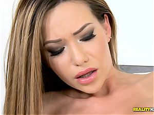 insatiable Russian stunner Subil bend humped deep in her tasty kiska pudding