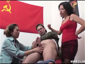 chinese compelled to jack His fuck-stick