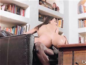 Abella Danger deep interracial pulverize with big black cock
