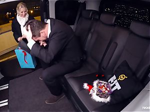 drilled IN TRAFFIC - Christmas car hump with Swedish babe