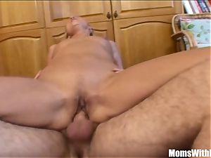 ash-blonde Stepmom stretching For Her horny Stepson
