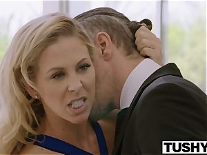 TUSHY Blair Williams Has A steaming assfuck Lesson three way With Her boss