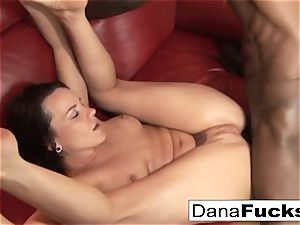 Dana gets butt pummeled by a hefty ebony schlong
