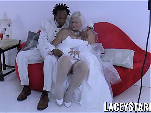LACEYSTARR - grandmother bride fed with jism after screwing