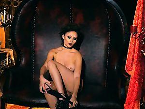slim petite Ariana Marie splendid rubber solo getting off