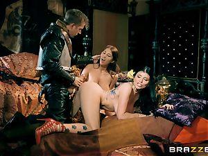 three with Romi Rain and Ayda Swinger princess of thrones