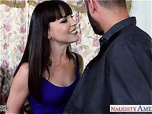 sweetheart Dana DeArmond greets his bulge inwards