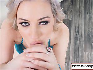 first Class pov - Jessica Ryan gargle your massive man rod