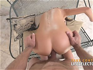 awesome brown-haired ballerina Tina Kay is penetrating point of view