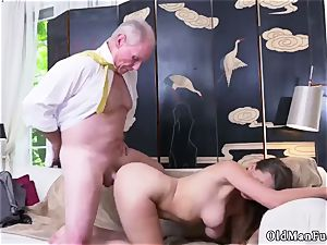 old mommy screw young nymph Ivy amazes with her fat mounds and ass