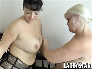 LACEYSTARR - Mature doctor pulverized by multiracial couple