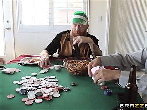 Sarah Jessie pummeling her spouses poker buddy