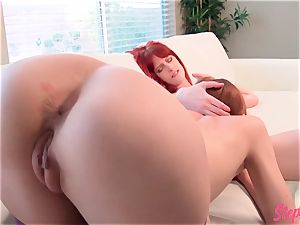 nasty redhead Stepsisters steamy lezzy action