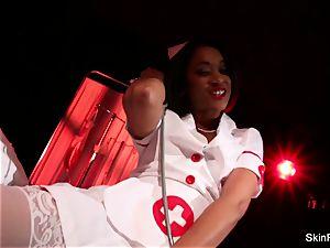 super super-steamy nurse flesh Diamond gives a beautiful tease