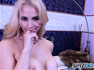 Sarah Vandella throating and smashing a giant cock