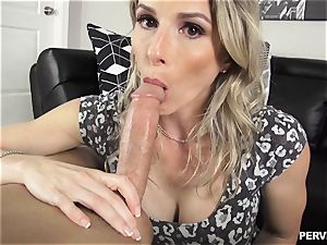 Stepson doesnt hold back wedging his lollipop into mummy Cory chase