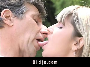Gina Gerson gets buttfuck from an elderly man