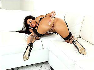 wonderful Lisa Ann always looks excellent when she strokes