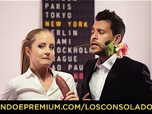 LOS CONSOLADORES - Spicy trio fun with super hot Tina Kay