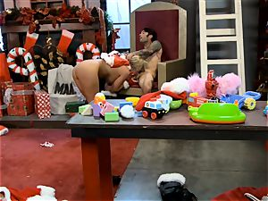 Santas domina Phoenix Marie gets her candy cane