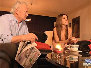 grandfather is pummeled by ultra-cute female in News vs Romantic