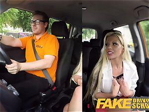 fake Driving school Barbie Sins muddy bj