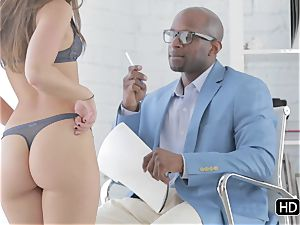 Remy Lacroix screwed in her bootie by a ebony penis