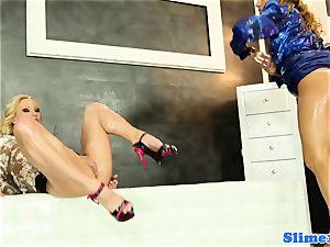 Bukakke lesbos handballing vagina at glory crevice