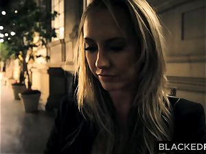 BLACKEDRAW Out Of Town girlfriend Cheats With big black cock After struggling With beau