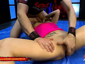 handballing and spurting in a urinating gang-fuck For cougar