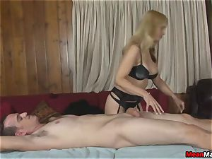 client Shocks To observe The marvelous towheaded masseur