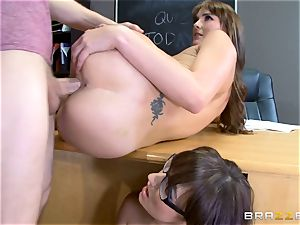 Bianca Breeze and Charlotte ORyan classroom 3some