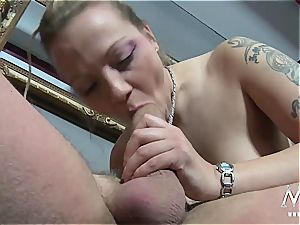 Germans are always the nastiest with mass ejaculation and orgies