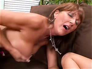 Haley appetizing and Desi Foxx share this hard pecker