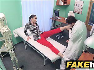 fake health center medic prescribes sticky facial