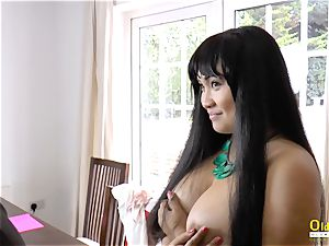 OldNannY Lacey Starr and Polynesian all girl