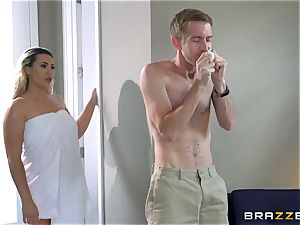 Smoking super hot blondie with a large booty railing on top of Danny D