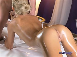 massage rooms super hot thin blondie gives pov blowjob