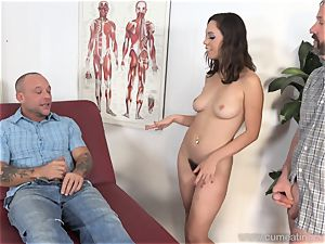 Jade Nile Has Her hubby gargle wood and watch Her