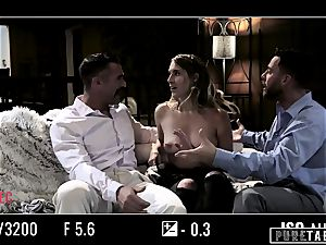 unspoiled TABOO stunner Tricked Into revenge threesome with Strangers