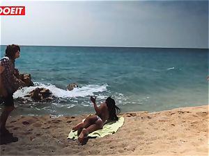 LETSDOEIT - super-steamy black teenage humped rock hard At The Beach