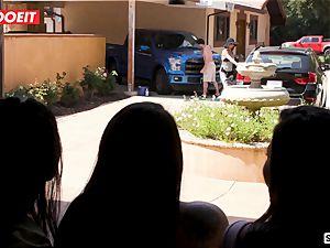 LETSDOEIT - ultra-kinky teens Scam Their large chisel Neighbor