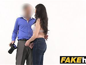 fake Agent Italian likes to be plumbed rock-hard on the sofa