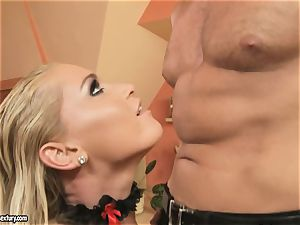 Kathia Nobili like tugging at spunk-pump standing attention