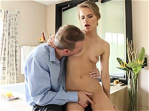 sumptuous stunner Jillian Janson plowed in her spectacular muff and her caboose pie
